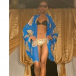 bn fashion show blue robe runway walk