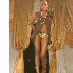 bn fashion show brown blouse with gold bottom wear 150x150 Meet Brenda Nambi of BAMBI: Fashion Designer from Uganda