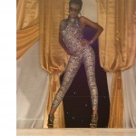 bn fashion show gold-blue print jumpsuit runway